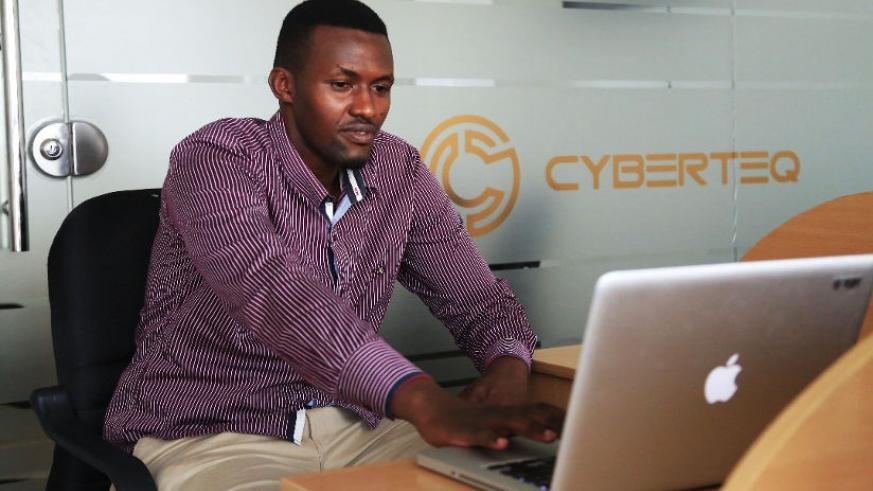 An employee at CyberTeq. / Sam Ngendahimana