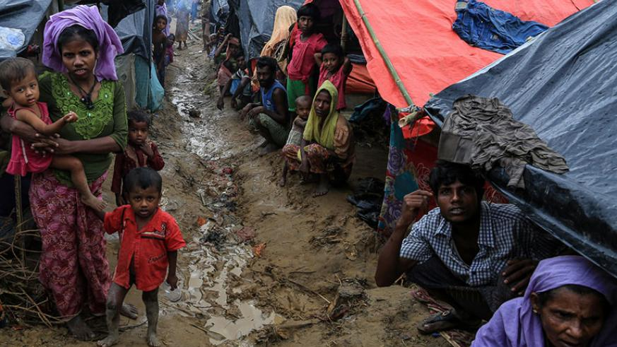 More than half a million Rohingya have fled Myanmar to neighbouring Bangladesh. / Internet photo