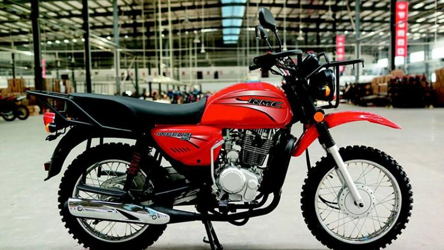 A sample of motorcycles assembled by Rwanda Motorcycle Company. (Courtesy)