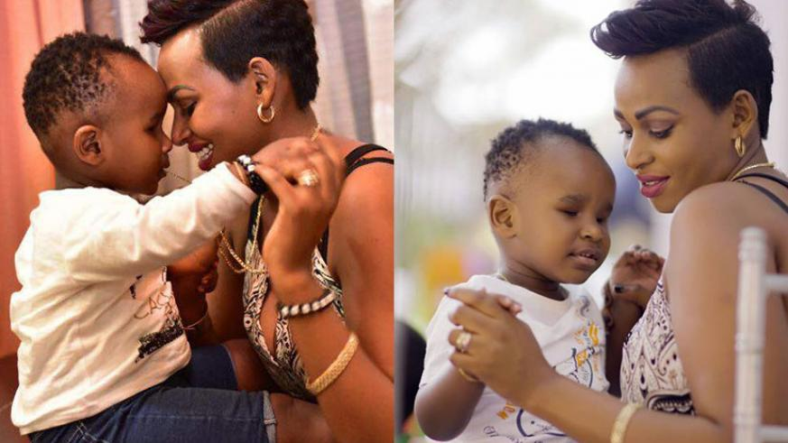 Vanessa Bahati with her son Jordan who suffers from visual impairment.