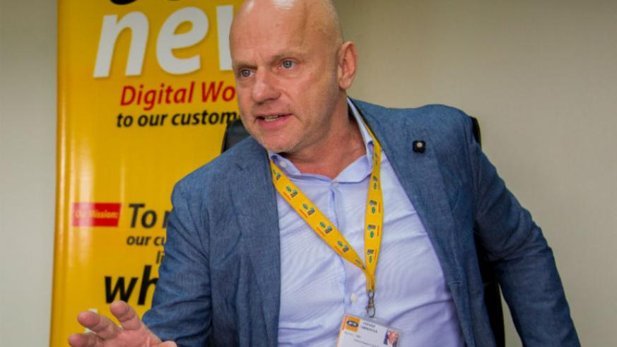 Bart Hofker MTN CEO during an interview in October. / Faustin Niyigena
