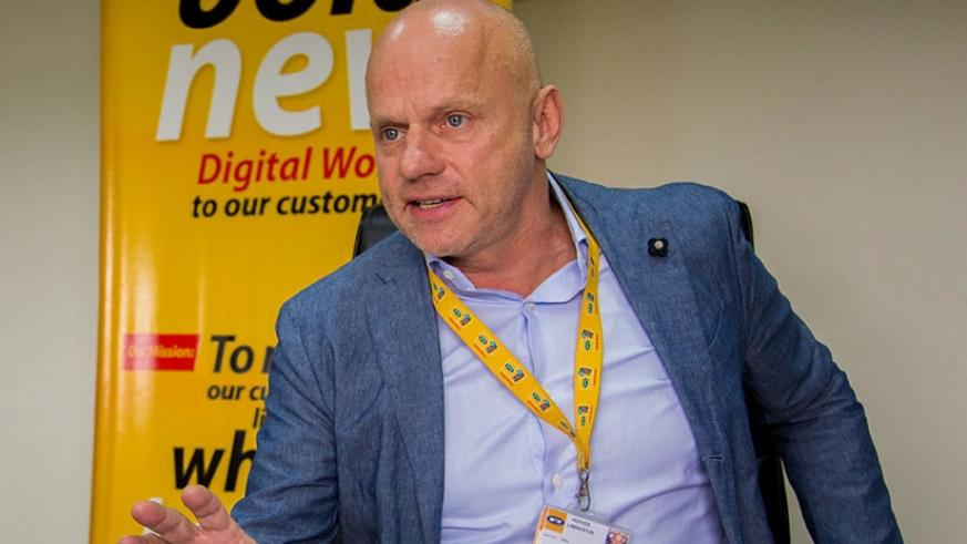 Bart Hofker, MTN CEO, during an interview in October. File.