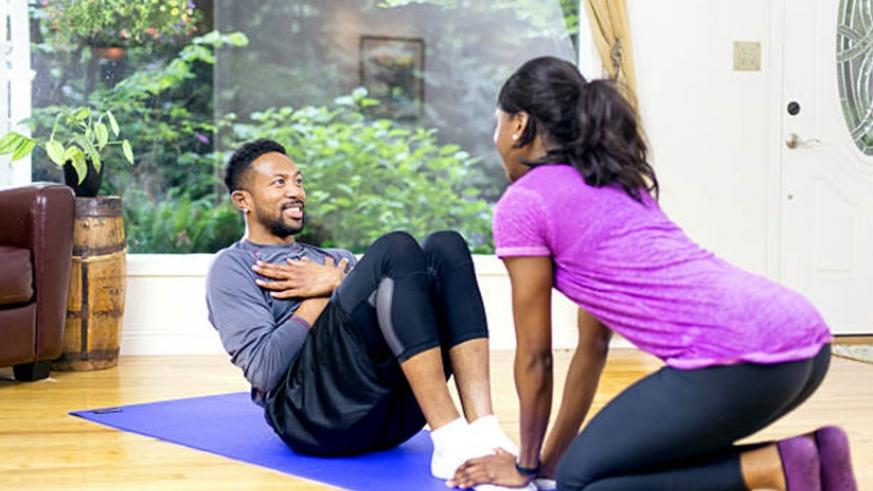 Working out as family is a good strategy to remain healthy. / Net.