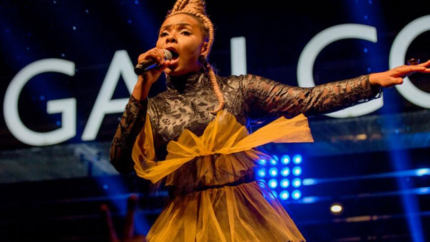 Nigerian songstress Yemi Alade gave a wonderful performance which got the audience excited. / Nadege Imbabazi