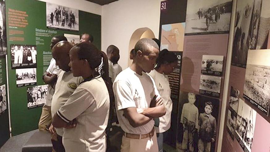 Students during a past visit to the Kigali Genocide Memorial in Kigali. File