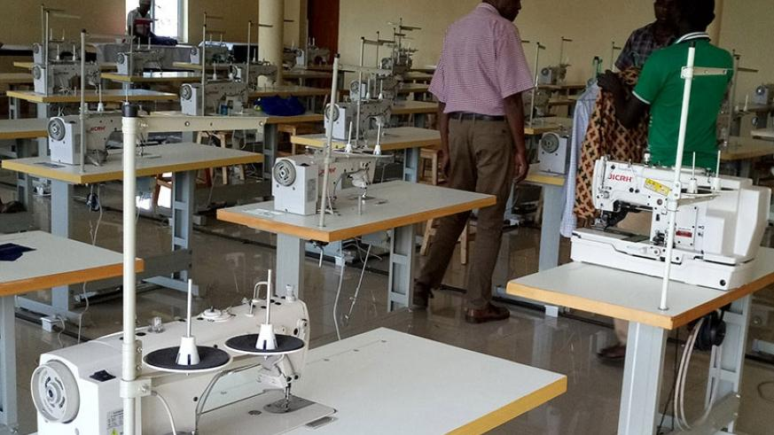 Some of the equipment that is not being used in Burera Garment Factory. File.