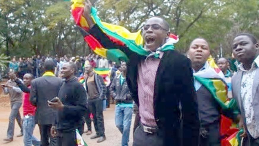 Demonstrators in Zimbabwe (Net photo)