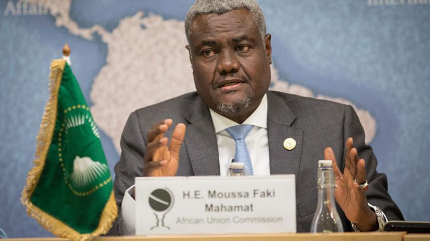 Mahamat has reiterated the need for financing the African Union agenda if the regional body is to become self-sustainable to guide the continent's transformation. / Internet photo