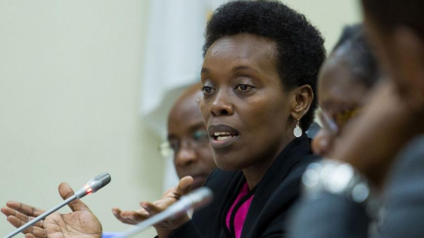 The Minister for Health, Dr Diane Gashumba speaks during a recent press briefing. EAC Heads of State will discuss a regional approach to combating infections diseases during a two-....
