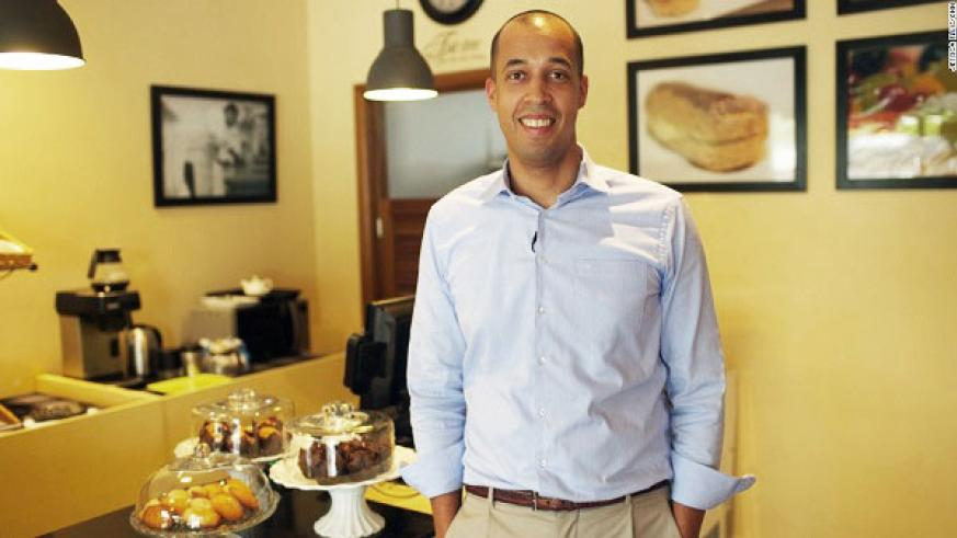 Jean-Philippe Kayobotsi, CEO and co-founder of Brioche, at the firm's Nairobi outlet. / Courtesy