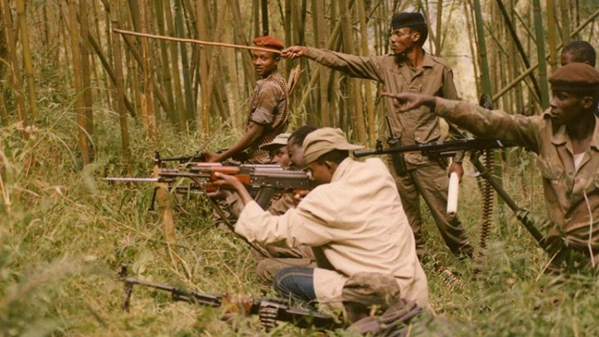 RPA fighters during the liberation struggle. File.