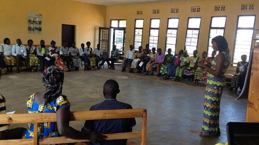 Karongi National Youth Council Committee, Boys and Girls trained on Gender equity and equality by engaging males and females.