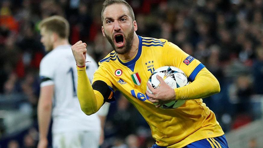 Juventus were given a lifeline in the tie when Argentina striker Higuain equalised for the visitors on 64 minutes.