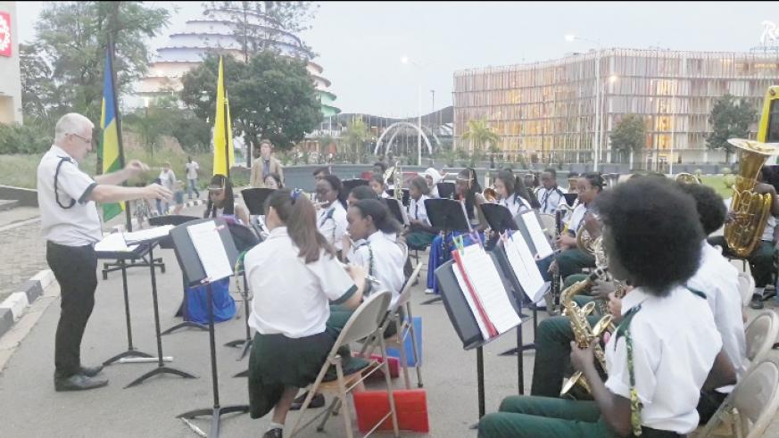 Green Hills Academy band staged an hour long performance at Kigali Heights on Saturday evening. /Courtesy photos.