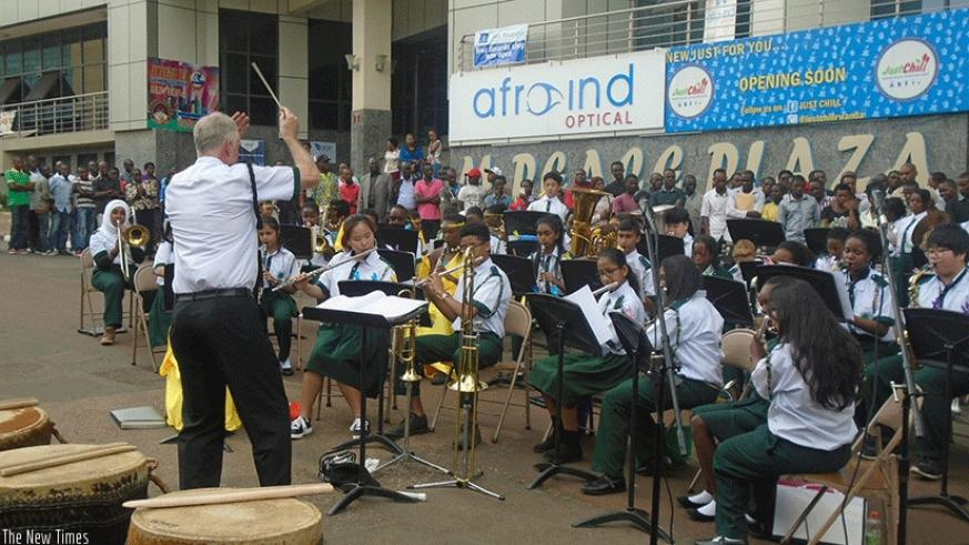 INJYANA ensembles performing at a past a event in Kigali. Courtesy.