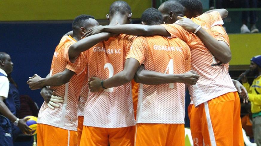 Defending champions Gisagara are the only unbeaten team in the men's national volleyball league after 10 matches. Courtesy.