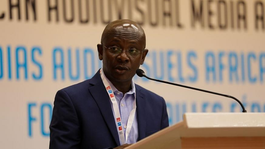Anoff-Ntow speaks at the event in Kigali last week. Timothy Kisambira.