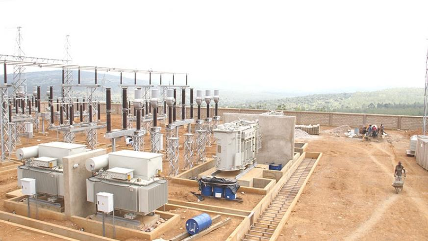 Gabiro substation, under construction. Such projects are built on land at times owned by citizens who by law ought to be compensated.