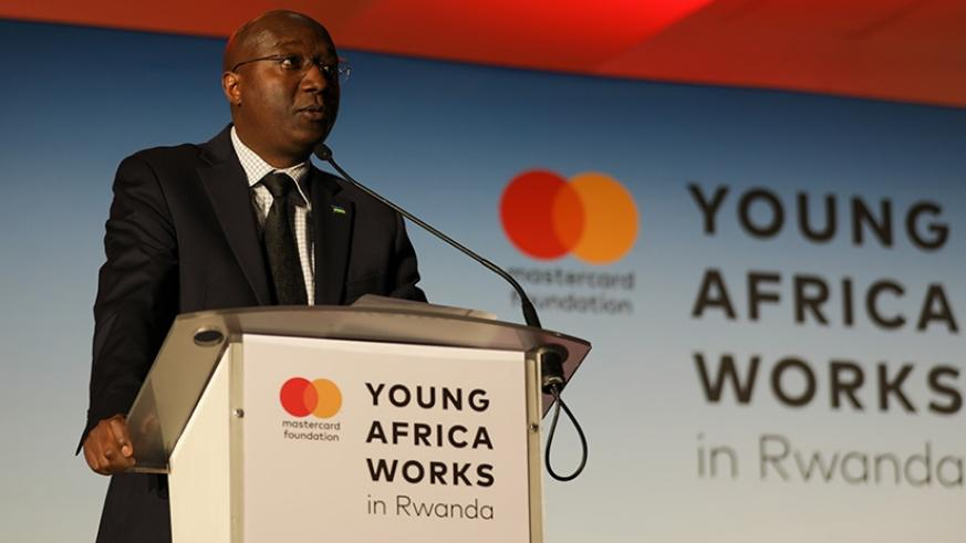 The Prime Minister, Edouard Ngirente, during the launch, yesterday, said the Young Africa Works Strategy is well-aligned with the country's agenda for transformation. Timothy Kisambira.