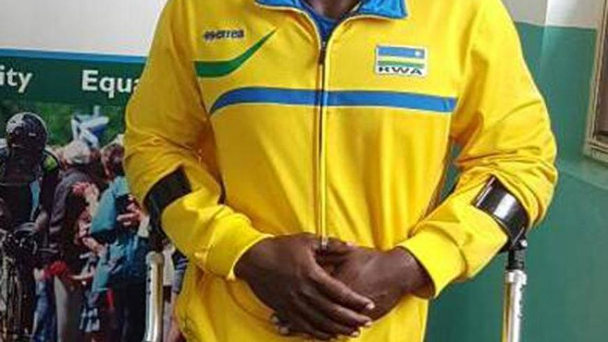 Vedaste Niyonzima will take part in the ParaPowerlifting category at the Commonwealth Games. Courtesy