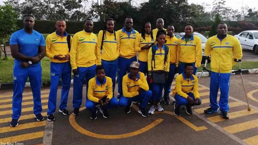 Rwanda's beach volley, parapowerlifting and athletics teams departed for Australia on Saturday morning for the upcoming Commonwealth Games in Australia. D. Sikubwabo.