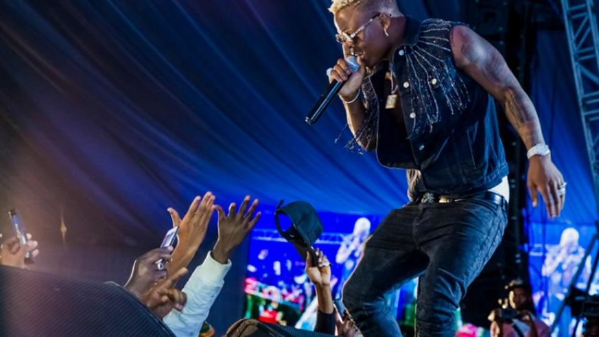 Harmonize's first performance in Kigali, which was meant to attract many concertgoers turned out to be a big flop. /Courtesy.