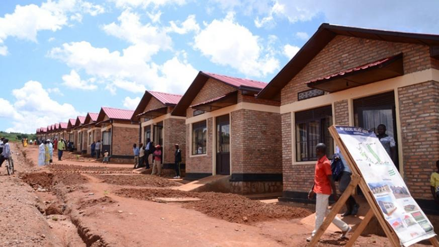 Some of the housing units that were constructed in a model village in Kageyo Cell, Mwiri Sector, Kayonza District. Courtesy.