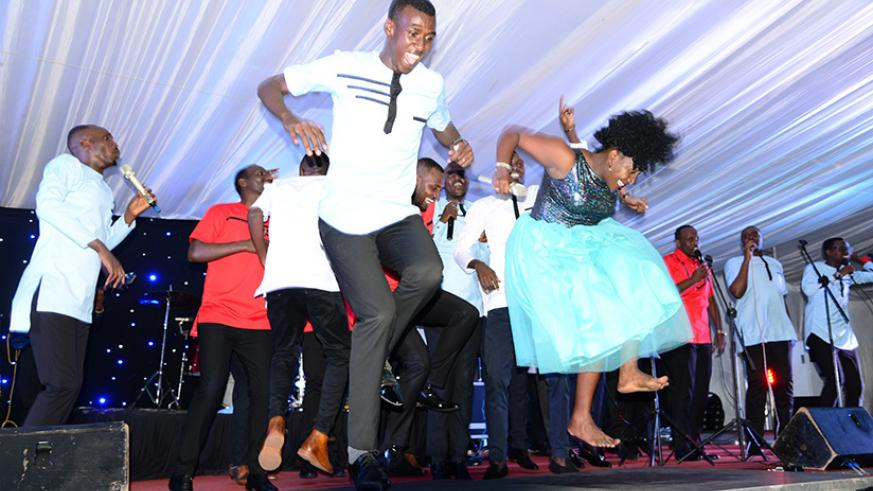 Alarm Ministries perform on the launch of their album. / Frederic Byumvuhore.
