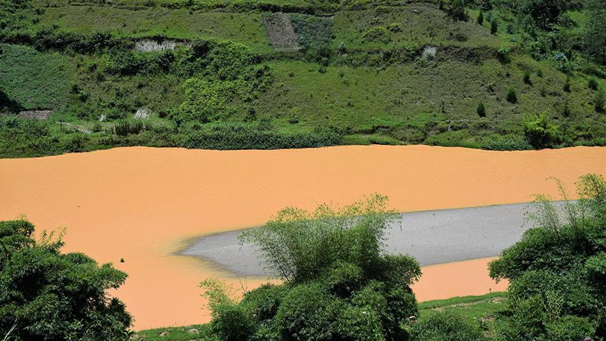 Some of the sediments in Nyabarongo river. Michel Nkurunziza