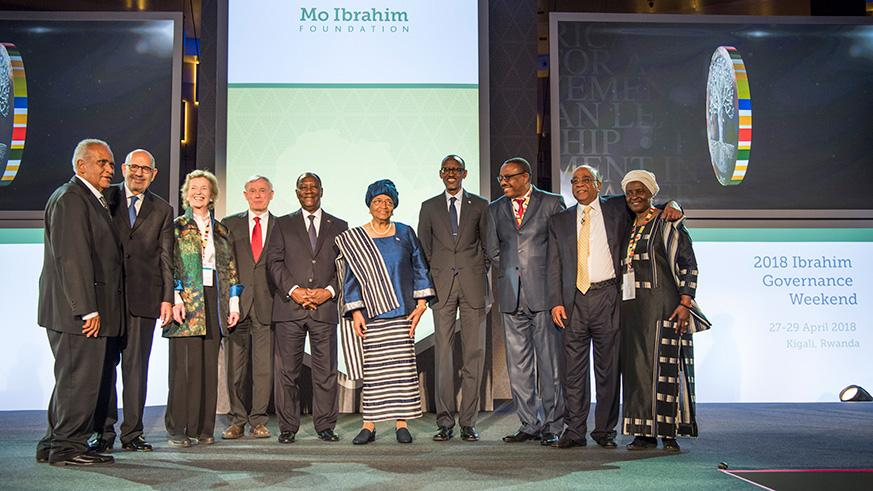Liberia's ex president becomes first woman to win the Mo Ibrahim Prize