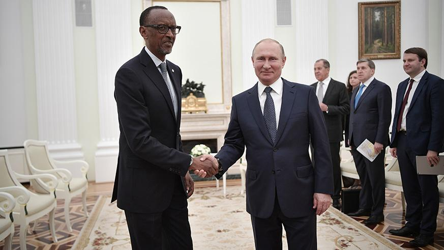 President Kagame and his Russian counterpart held talks in Moscow