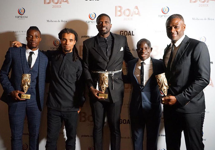 [From left] Wilfred Zaha, Akala, Luol Deng, N'golo Kante and Radhi Jaïdi