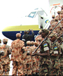 A contingent of Darfur-bound Rwandan peacekeepers. (File photo)