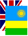 And inllustration showing the British and Rwanda flags