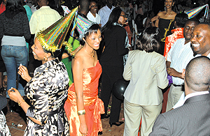 Guests dance away the night to welcome the new year at Kigali Serena hotel on Monday. (Photo/G. Barya).