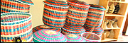The final product: Baskets made by attendees of the Ishirahamwe Twiteze Imbere Gasabo (ITIGA) vocational training scheme. (Photo by B. Kimenyi)