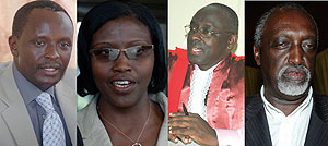 DEFENDS MEDIA: Ngoga; NOT ALL IS WELL: Kanzayire; WANTS THE REPORT REVOKED: Busingye; UNDER FIRE: Rutaremara.