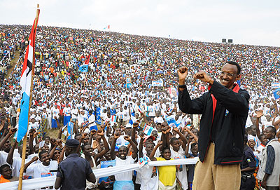 President Paul Kagame drew huge crowds during his entire campaigns