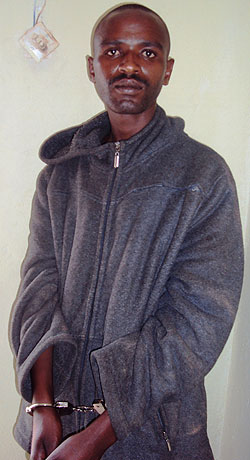 Ramadhan Omar at Ngoma Police station where he is being detained Photo P Ntambara