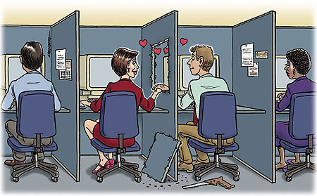 How safe is office dating (Internet Photo)