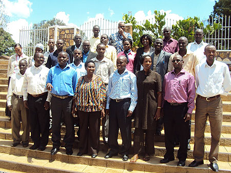 Human Resource officers from all districts in the country pose for a photo at a training organised by RALGA. (Photo / P. Ntambara)