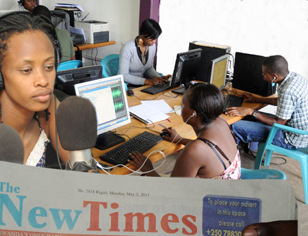 Reporters and news organisations have welcomed the various reforms in the media sector (Photo T Kisambira).