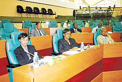 A cross section of senators during a past plenary session. (File photo)