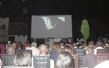 People get entertained at the 2011 Rwanda Film Festival.