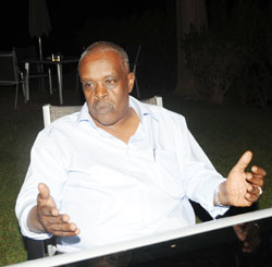 Gerald Ntashamaje during an interview with The New Times yesterday. John Mbanda.