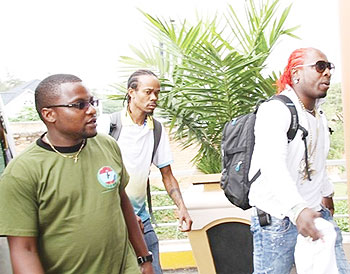 Elephant Man (R)  and his crew arrive at Lemigo Hotel