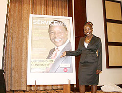 Idossou unveils the first cover page of The ServiceMag two years ago