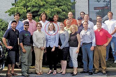 Former flame: Miss McNear, circled, was a literary type from a waspish family who was seduced by Mr Obama's intellectual musings on T.S. Eliot. Net photo