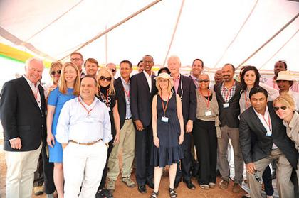 President Kagame with President Clinton and his team- Kayonza, 19 July 2012