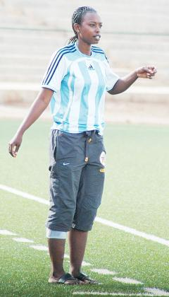 Grace Nyinawumuntu is looking for her fourth successive women league title as AS Kigali head coach. The New Times/File.